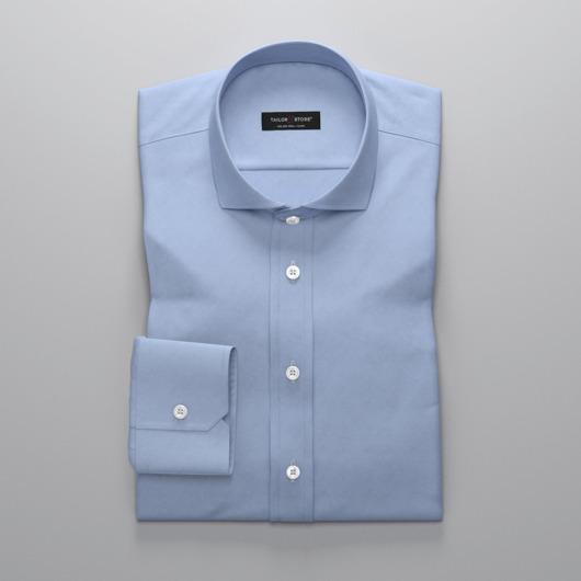 Bügelleichtes, hellblaues Business-Hemd