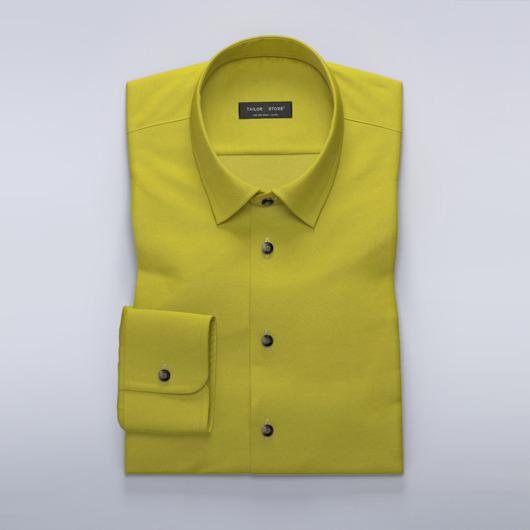 Chemise jaune foncé stretch sur mesure