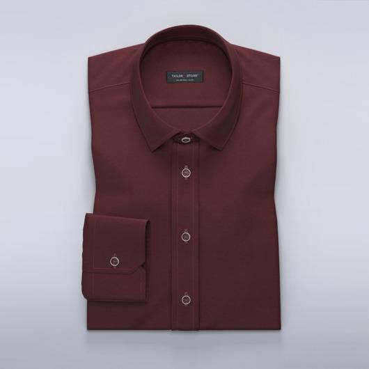 Vinröd skjorta med stretch