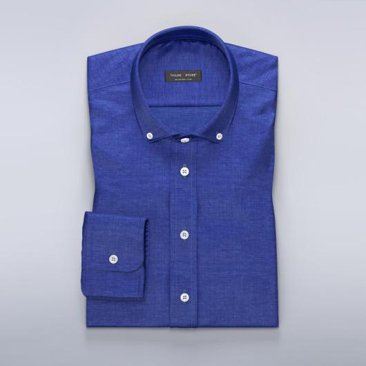 Helder blauw linnen overhemd