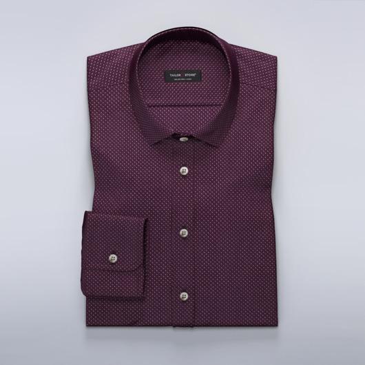 Donkerrood overhemd met print