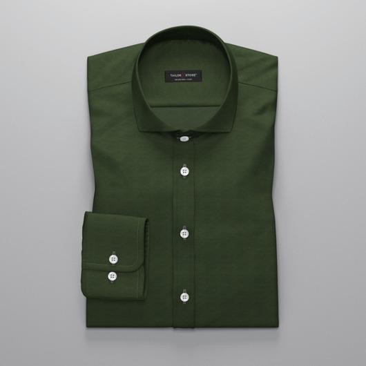 Mørkegrønn oxfordskjorte