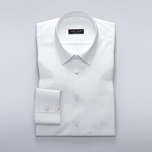 Business-skjorte i hvit herringbone for damer