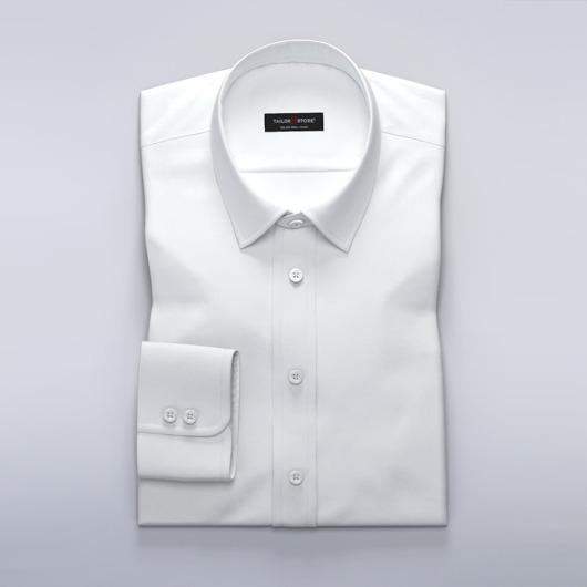 Business-Hemd für Damen aus weißem Twill