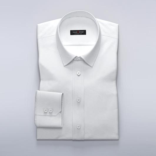 Dameskjorte i hvit lett dobbyvev