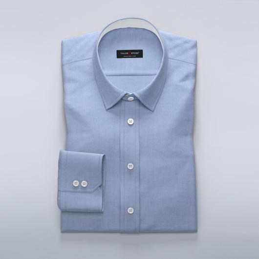 Dameskjorte i blå lett dobbyvev
