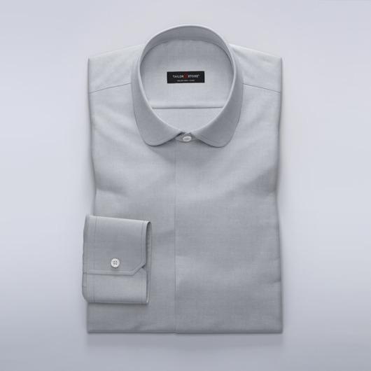 Dameskjorte i lett grå dobbyvev