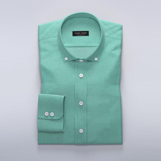 Let business-skjorte til damer i grøn dobby-vævning