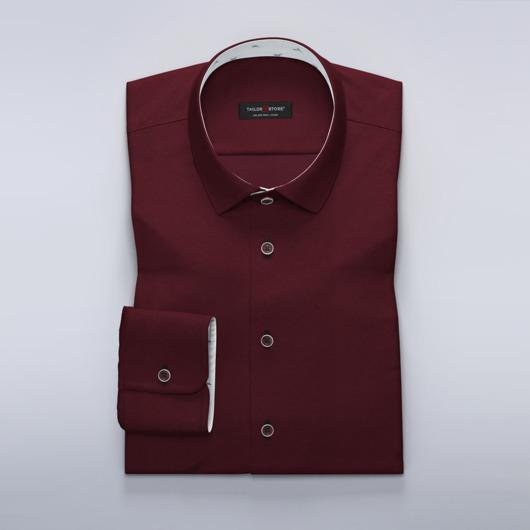 Satin dress shirt with small bird print contrasts
