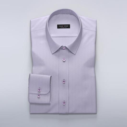 Jasnofioletowa koszula w jodełkę