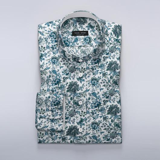 Liberty Art - blå blomstret skjorte