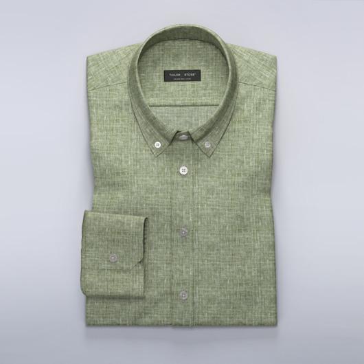 Grünes Leinenhemd