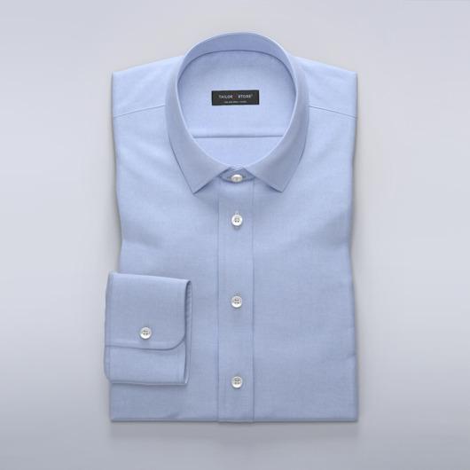 Lyseblå dresskjorte i diskré herringbone