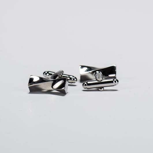 Zilveren Twist Manchetknopen