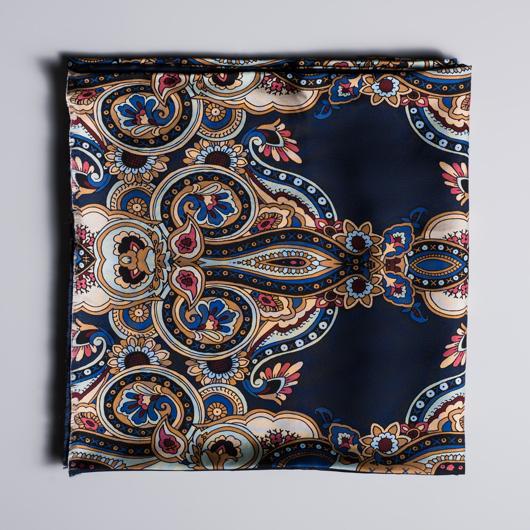 Écharpe à motifs Paisley en soie