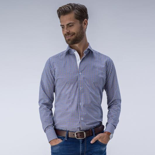 Elegancka koszula w klasyczną drobną kratkę