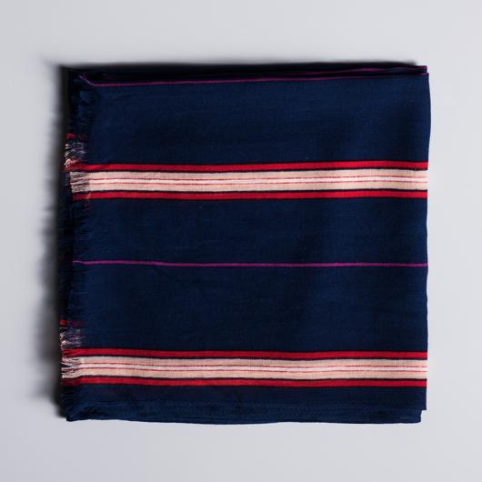 Écharpe rayée en viscose
