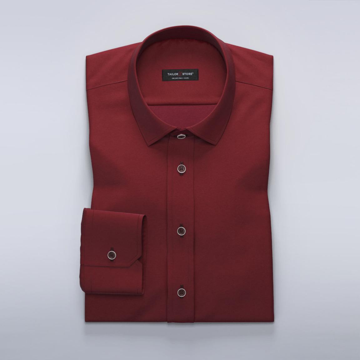 Vinrød skjorte med stretch