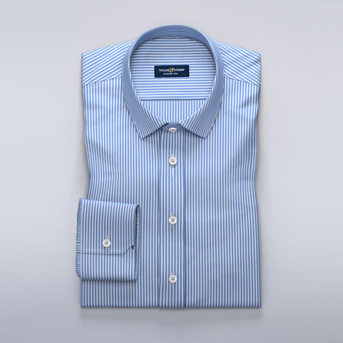 Biało-niebieska koszula w prążki