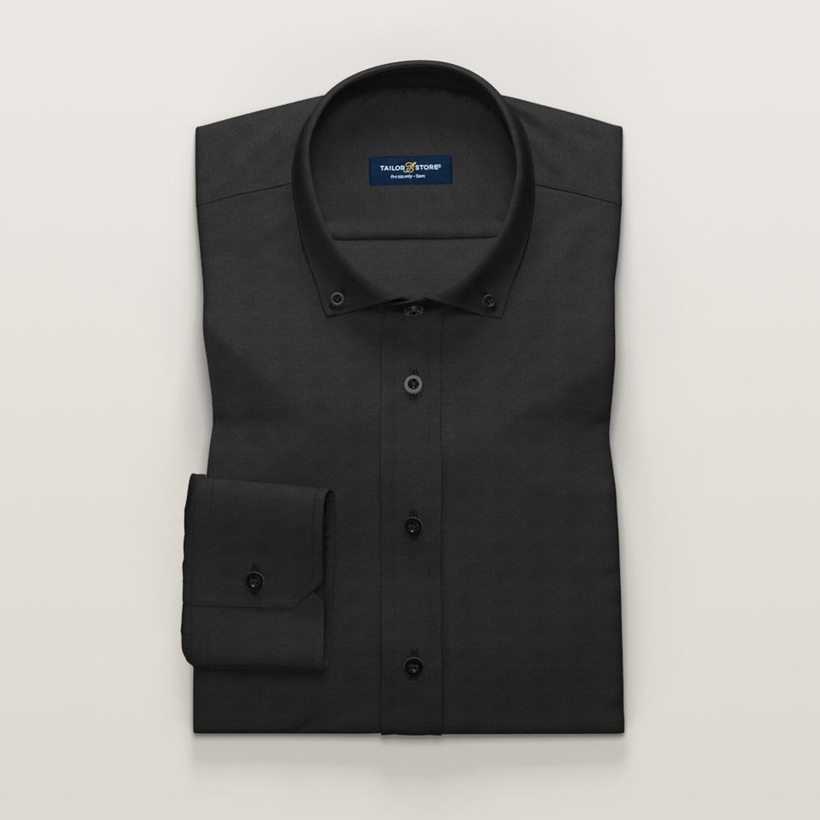 Matowa czarna koszula Oxford