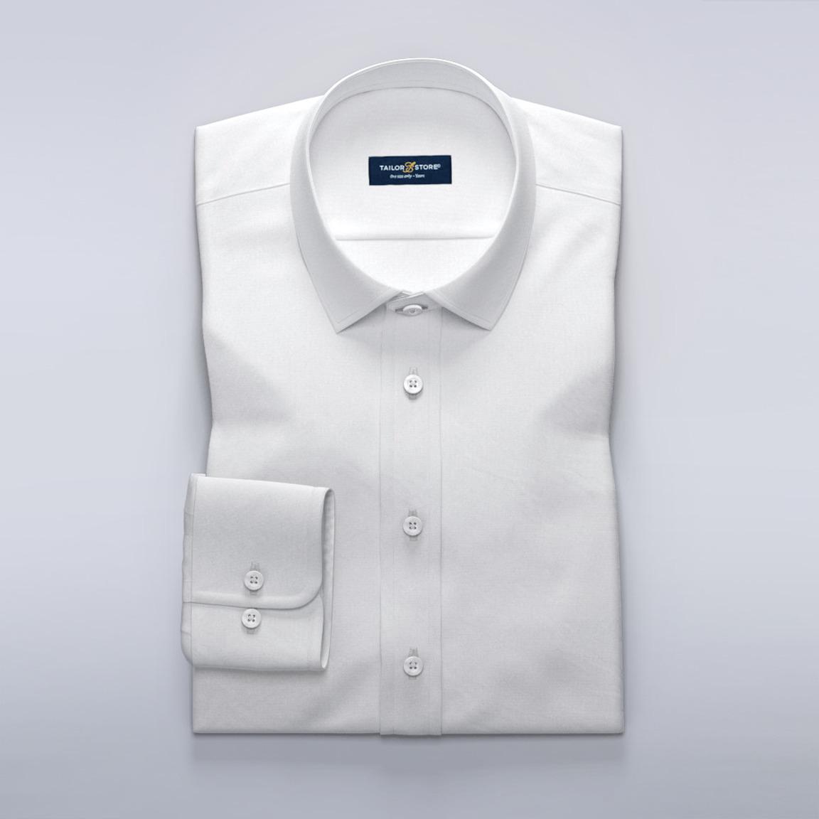 Hvid business-skjorte i Oxford-stof af høj kvalitet