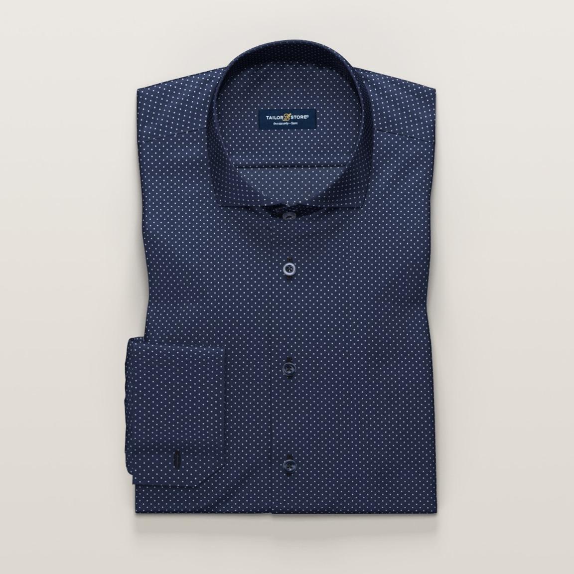 Navy dress shirt with dots