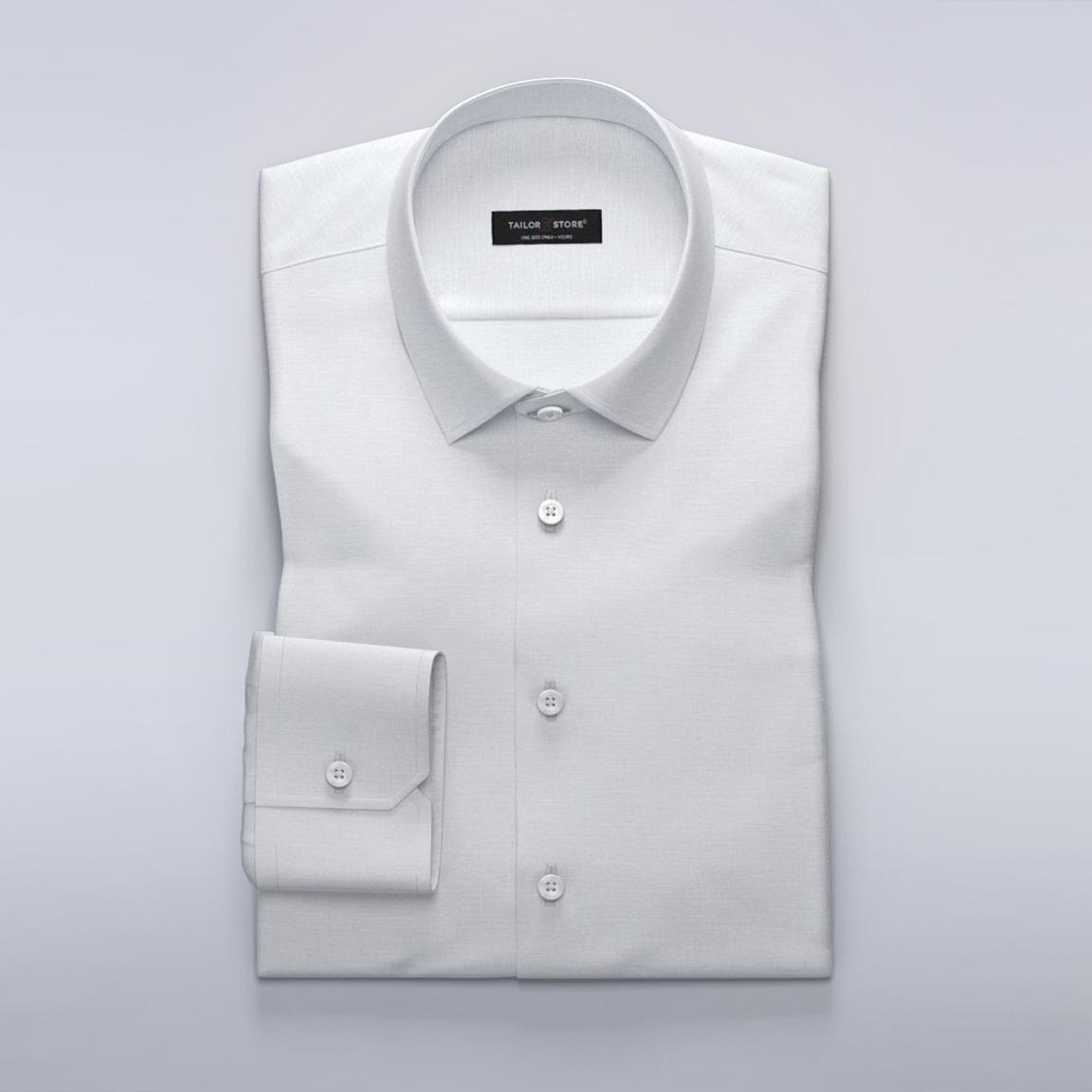 Women's dress shirt in white linen