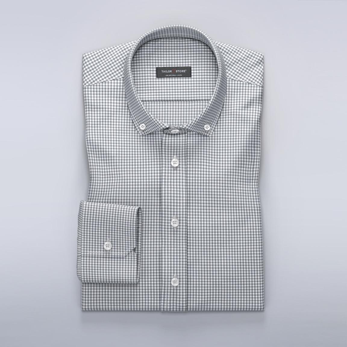 Grå skjorte i gingham-mønster