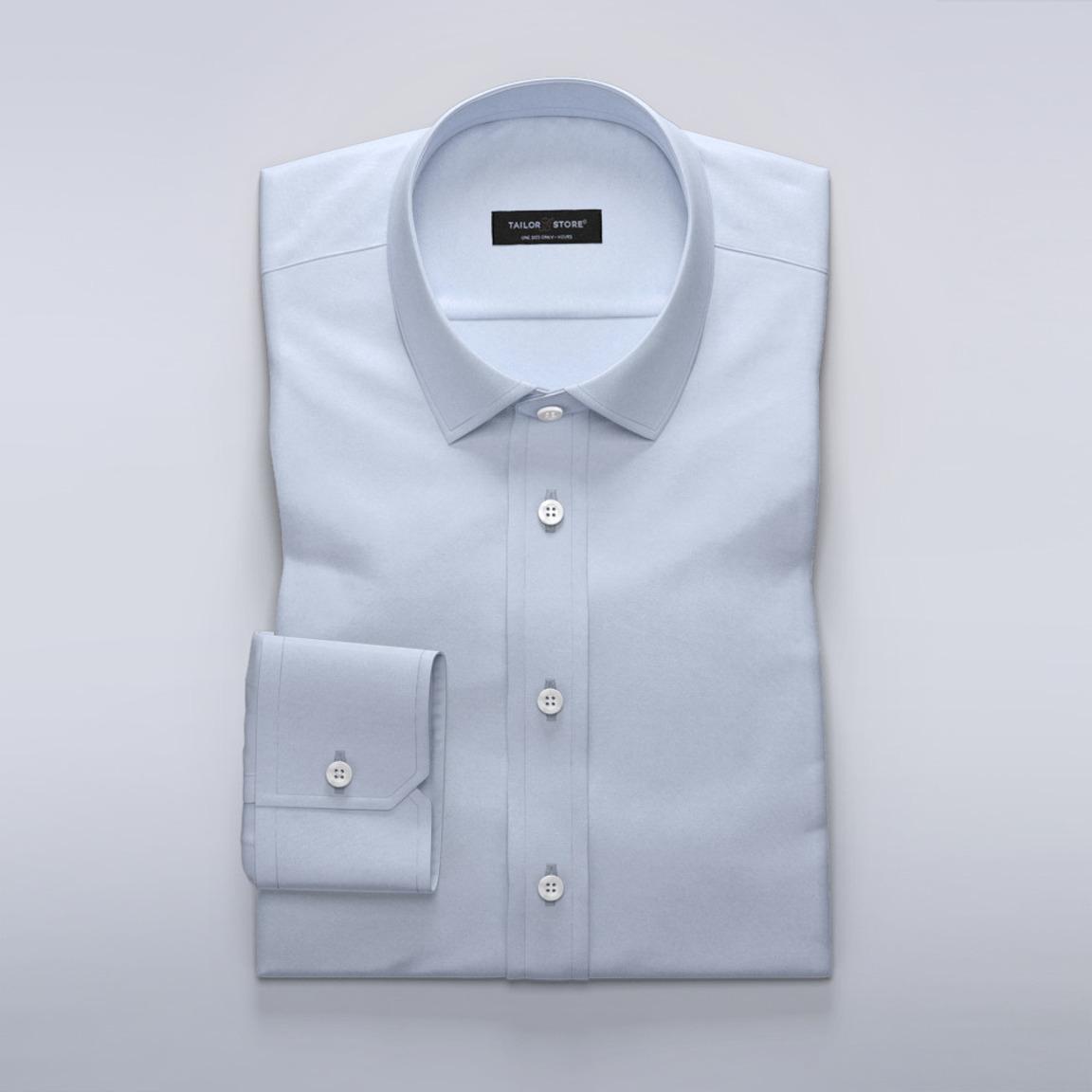 Lyseblå business-skjorte i uldblanding