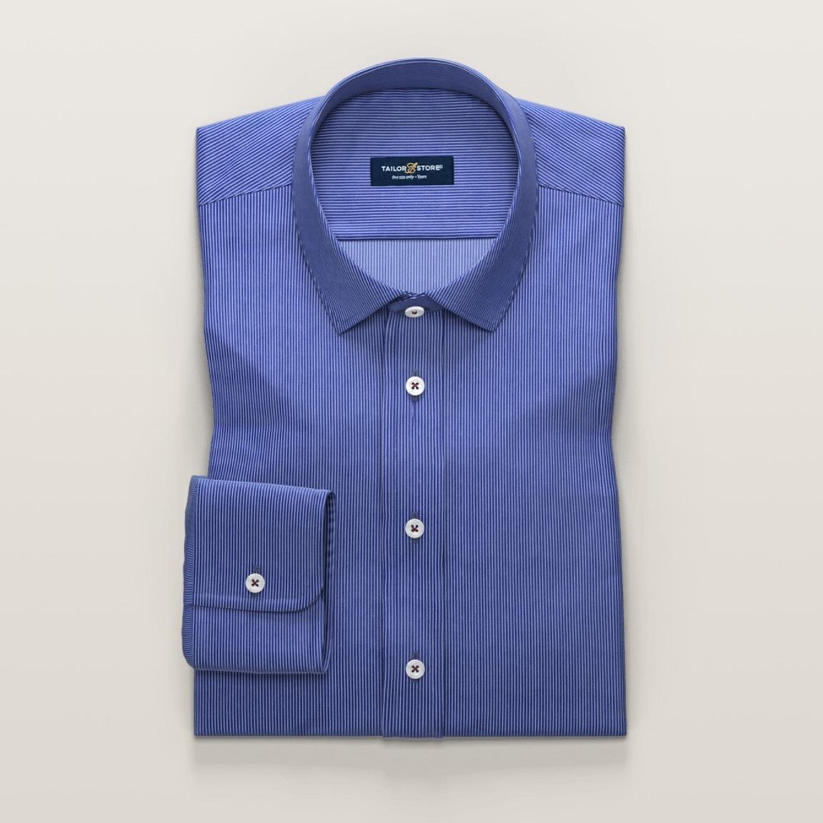 Blue business dress shirt with stripes