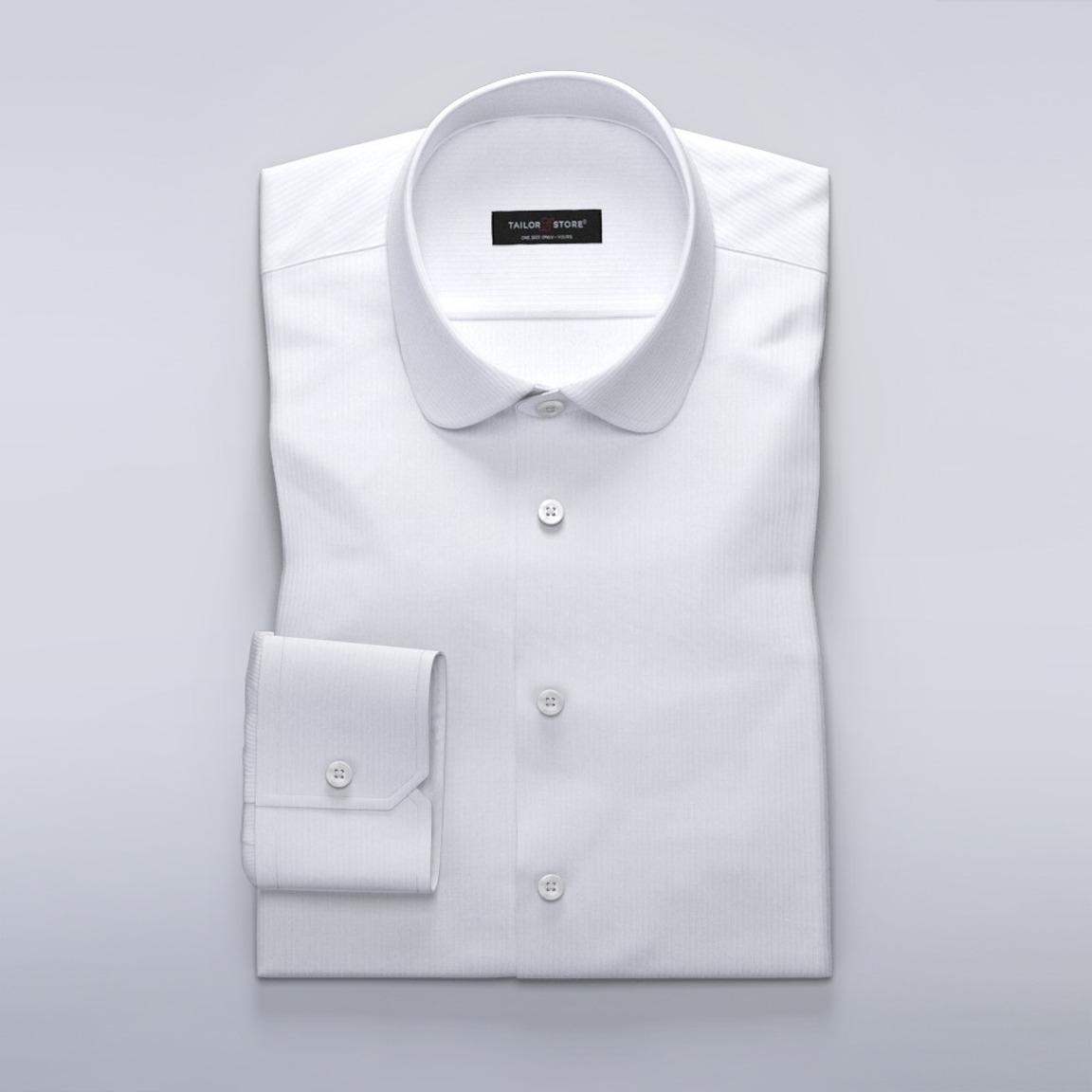 Chemise blanche business pour femmes en herringbone