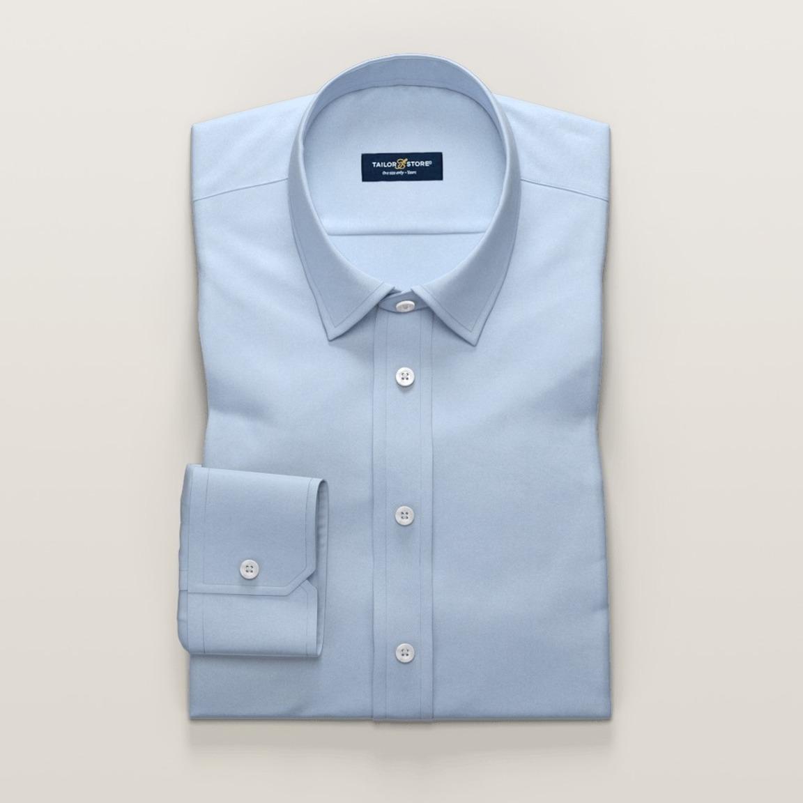 Chemise en bleu clair business pour femmes en twill