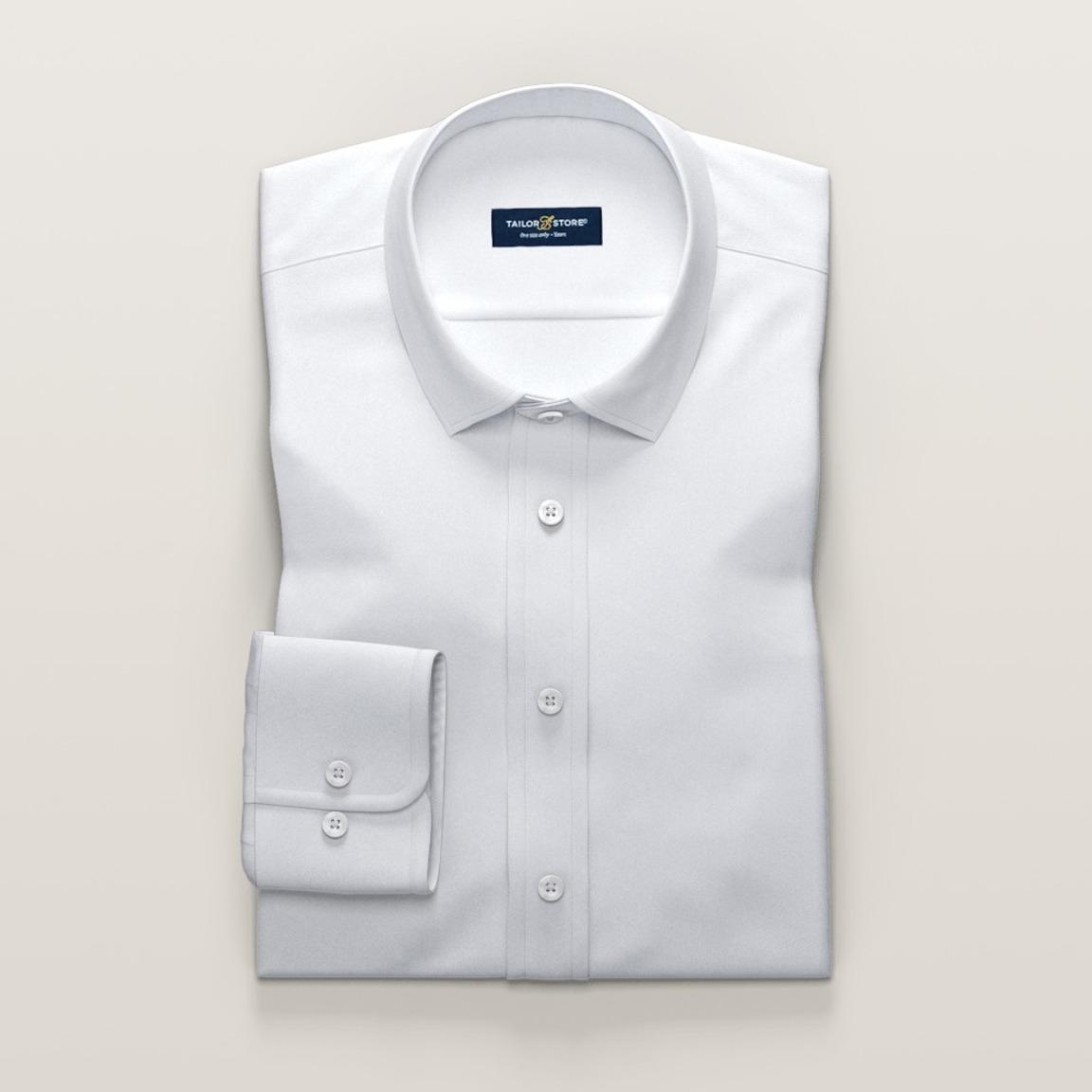 Luxueus wit business overhemd
