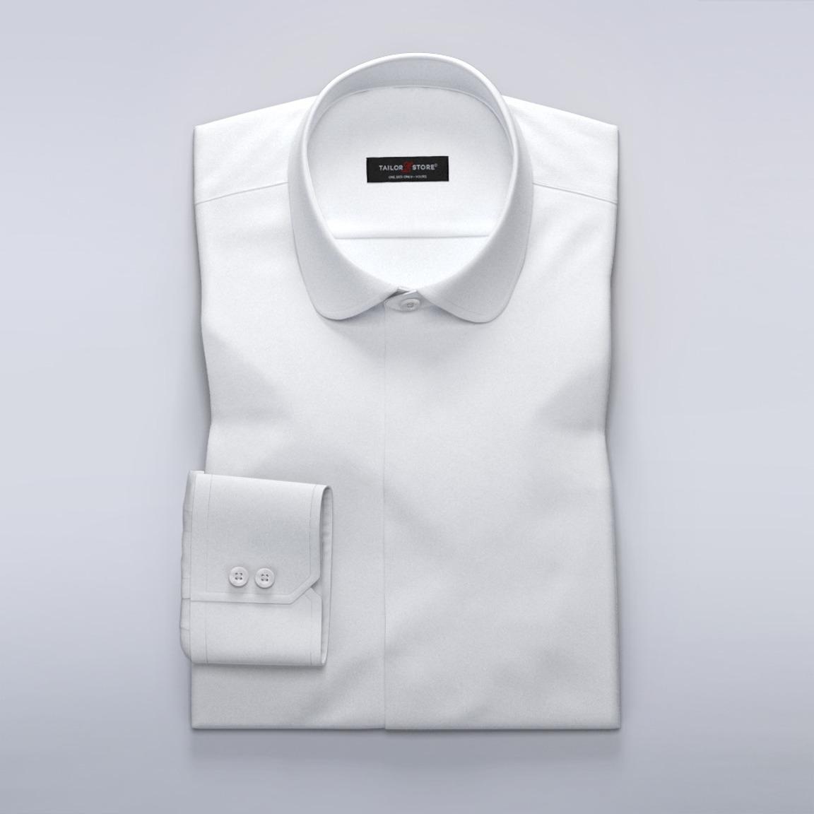 Damskjorta i exklusiv vit herringbone