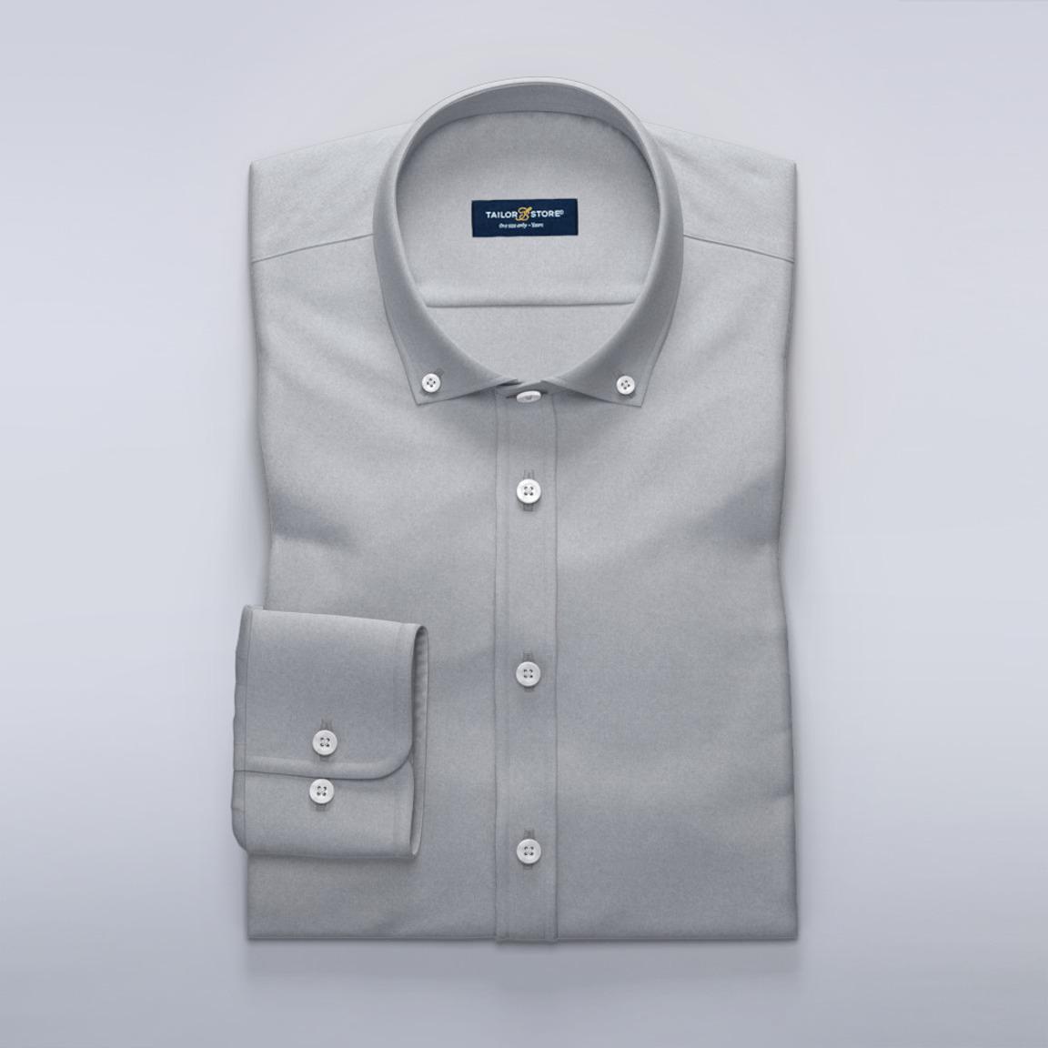 Grå damskjorta i mjukborstad Oxford