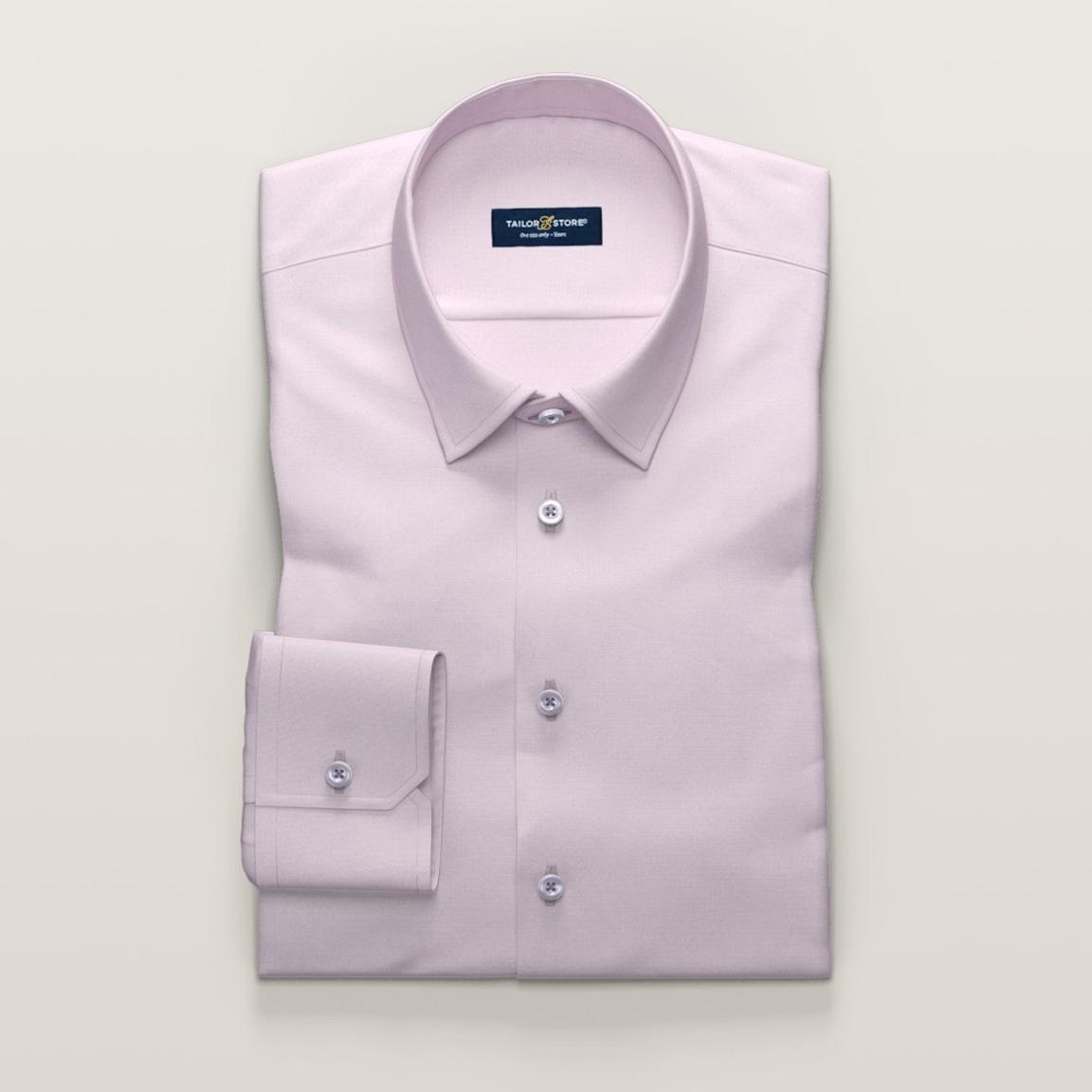 Business-Hemd für Damen aus rosafarbenem französischem Oxford