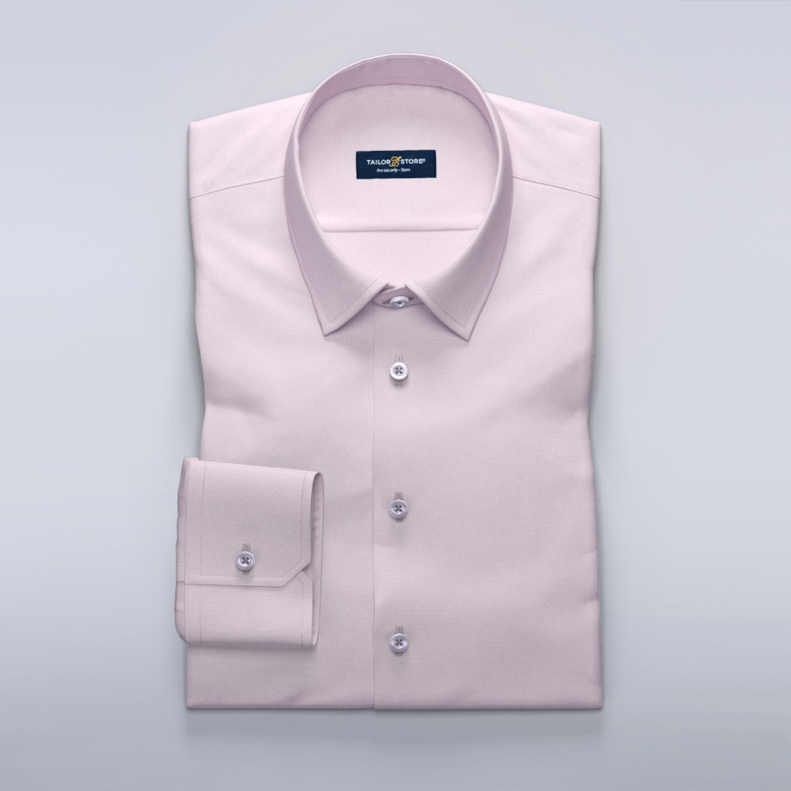 Women's business dress shirt in pink french oxford