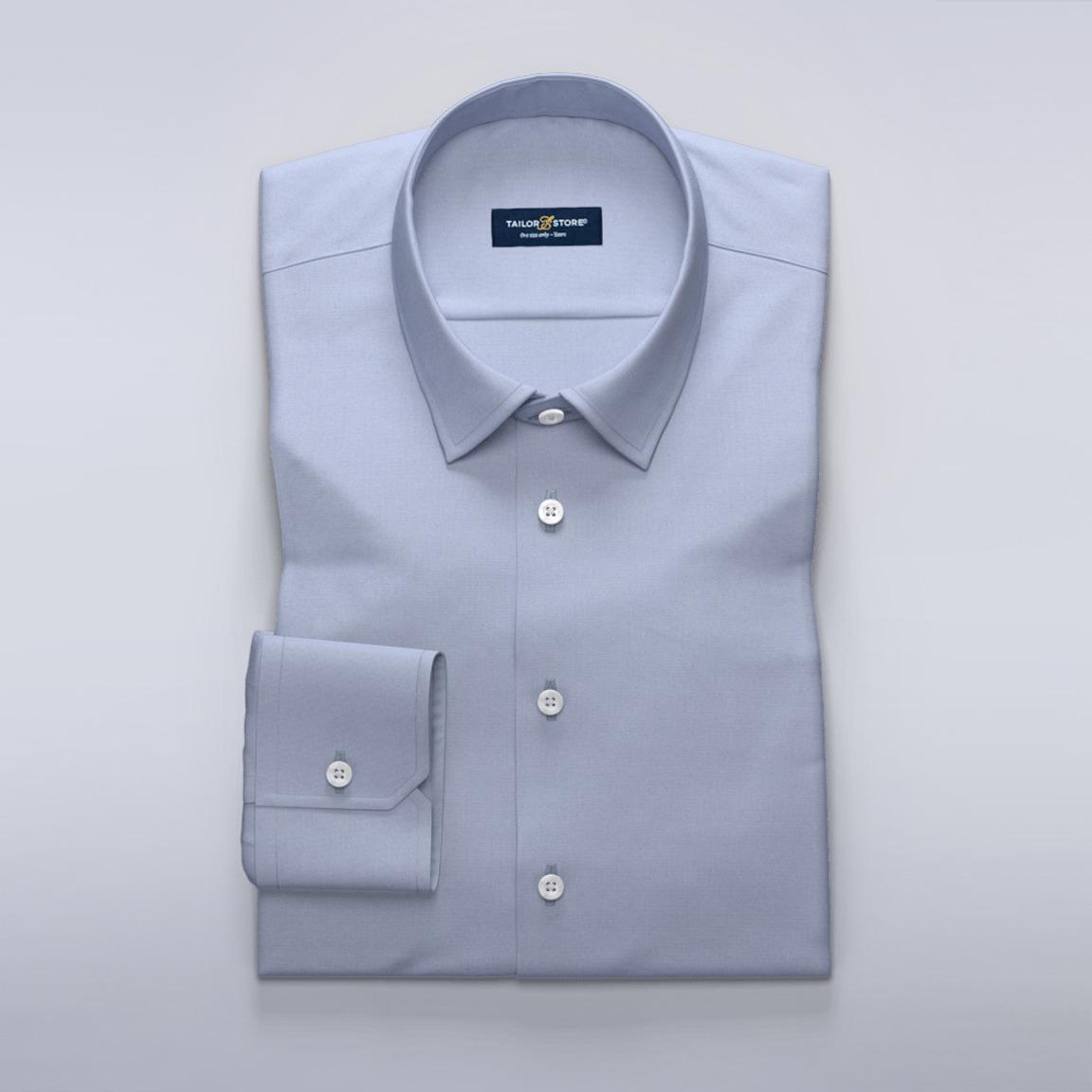 Dameskjorte i lyseblå french oxford