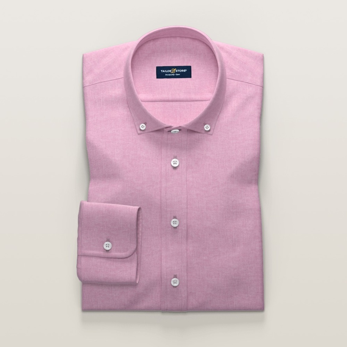 Ladies' dress shirt in pink cotton/linen