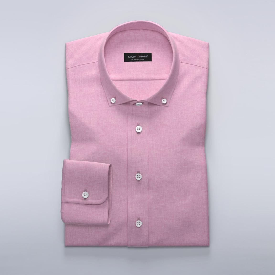 Dameskjorte i rosa bomull/lin