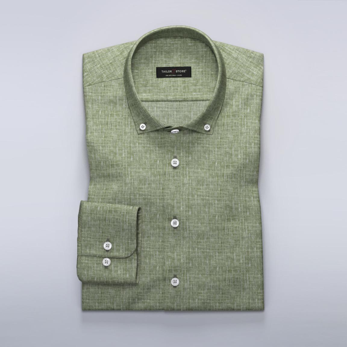 Dames overhemd in groen linnen