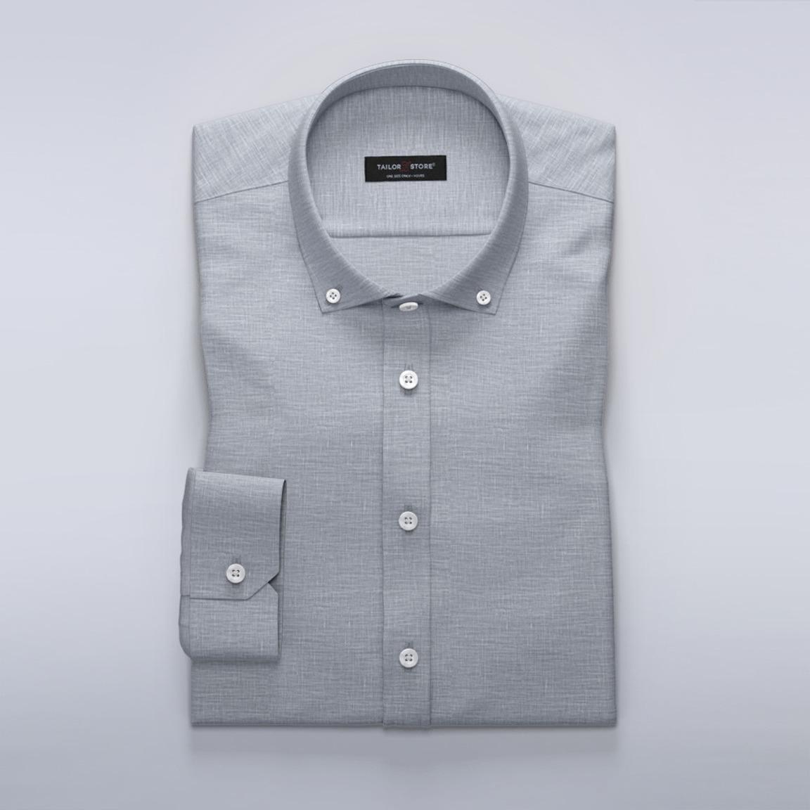Damskjorta i grått linne