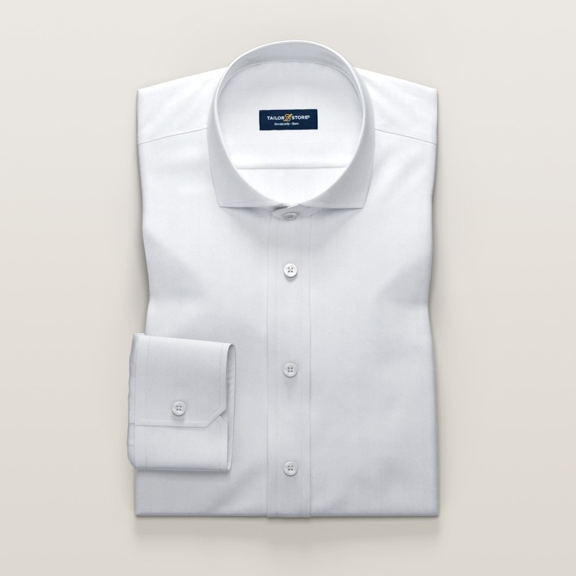 Business shirt in white herringbone