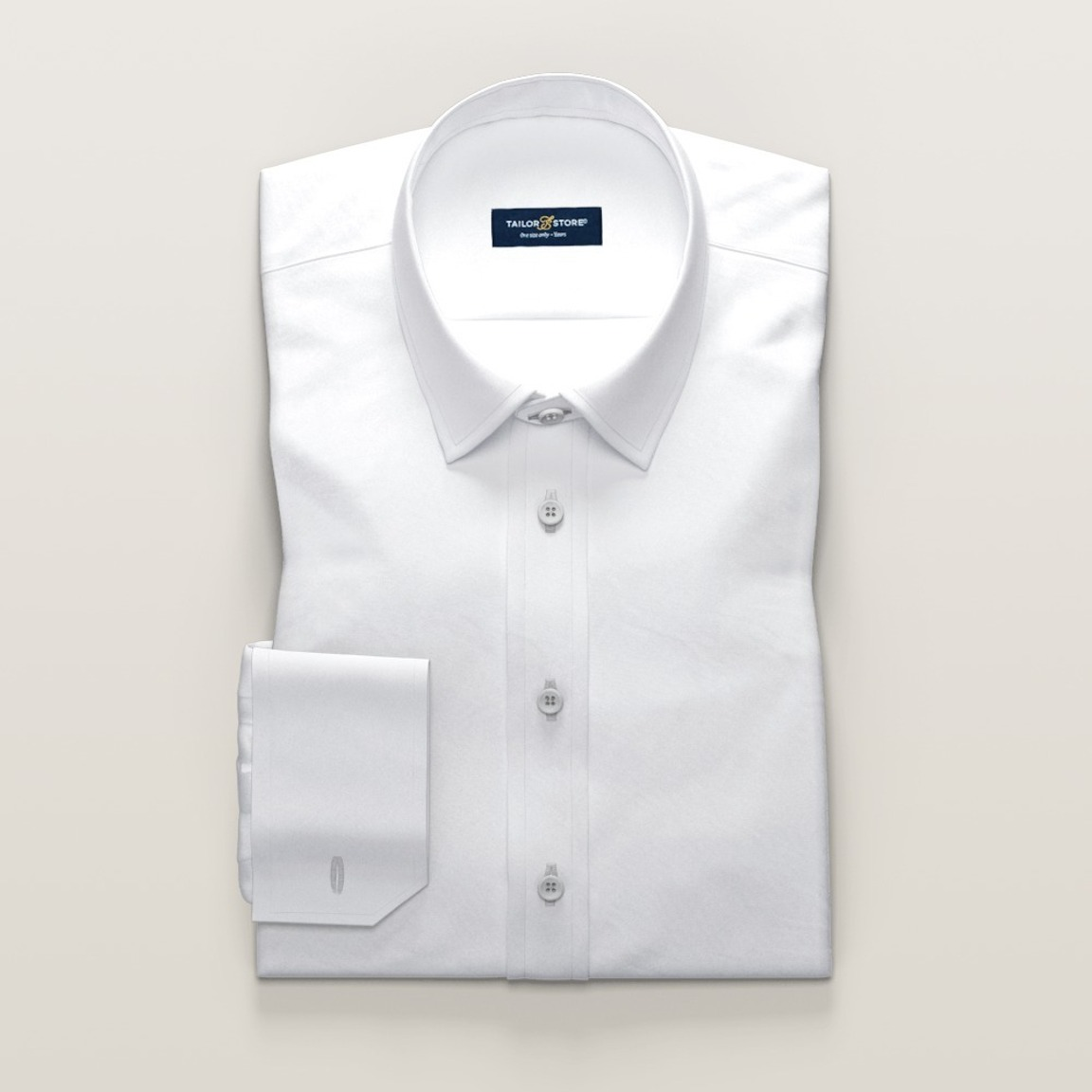 Business-skjorte i hvid