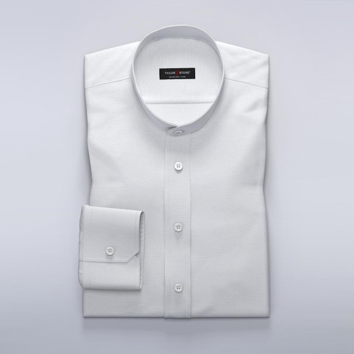 Modna biała lniana koszula
