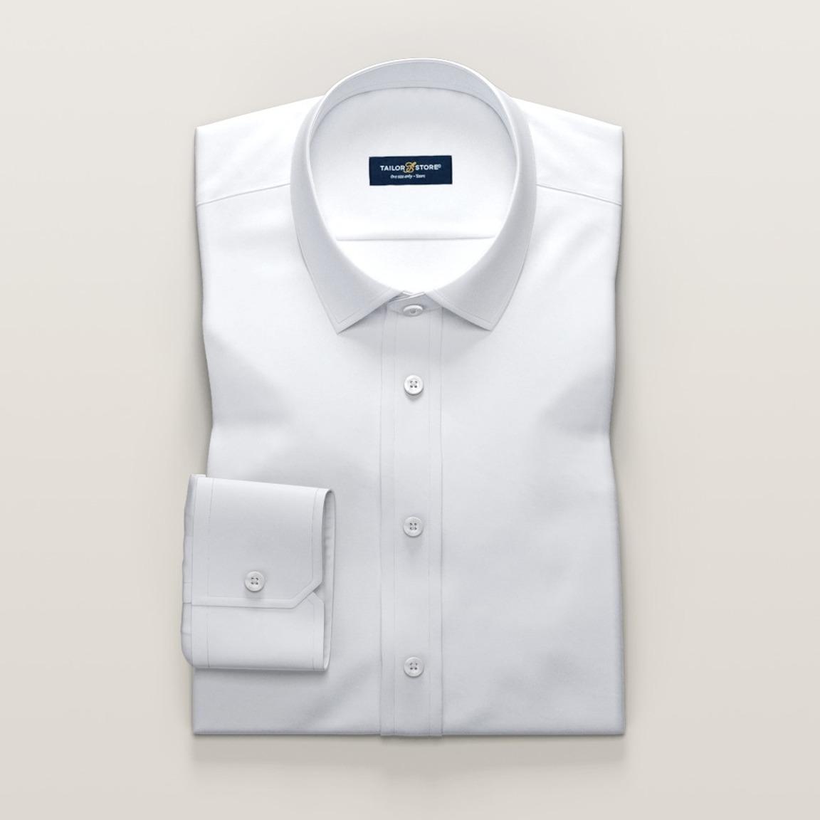 Weißes Twill-Baumwollhemd