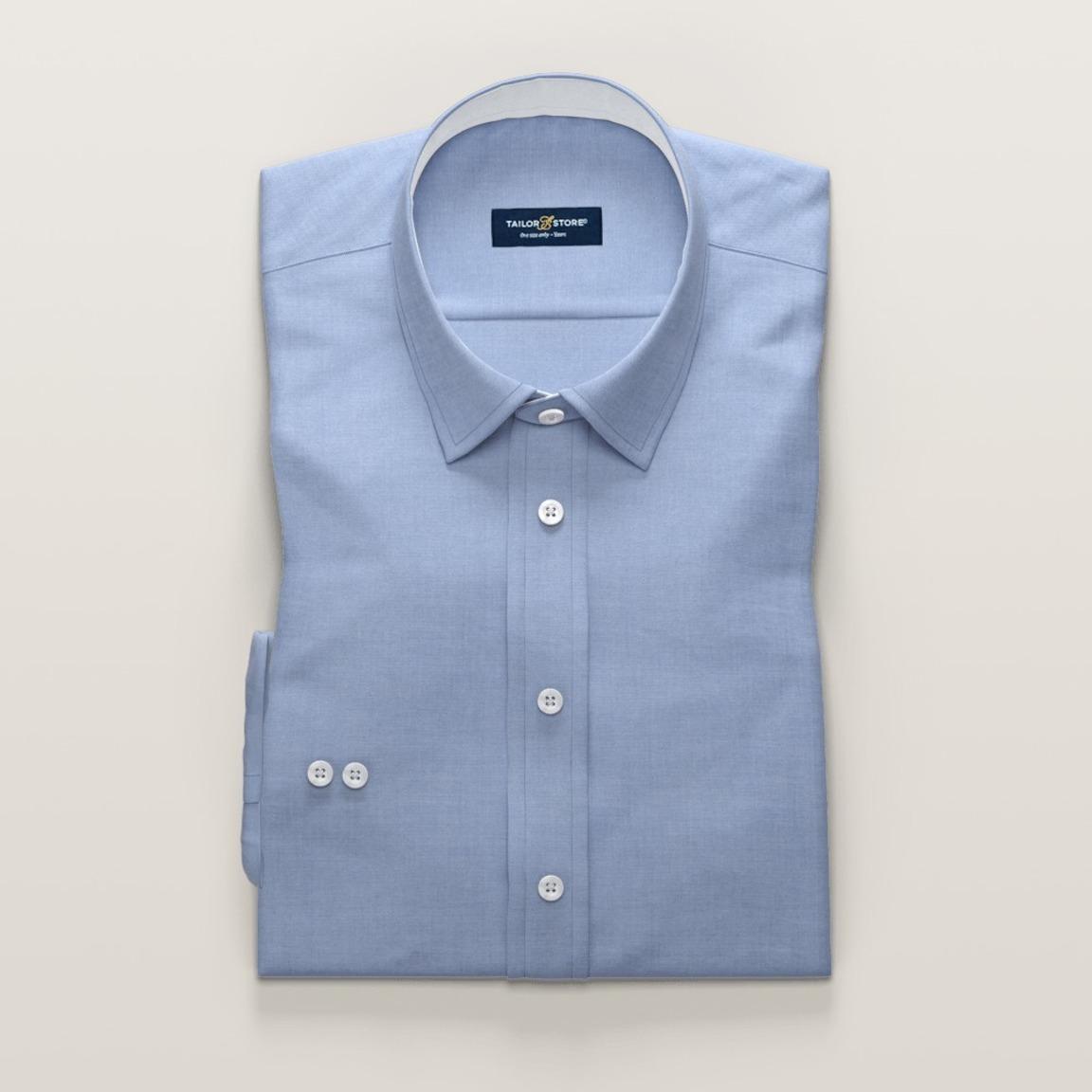 Women's business shirt in blue light dobby weave