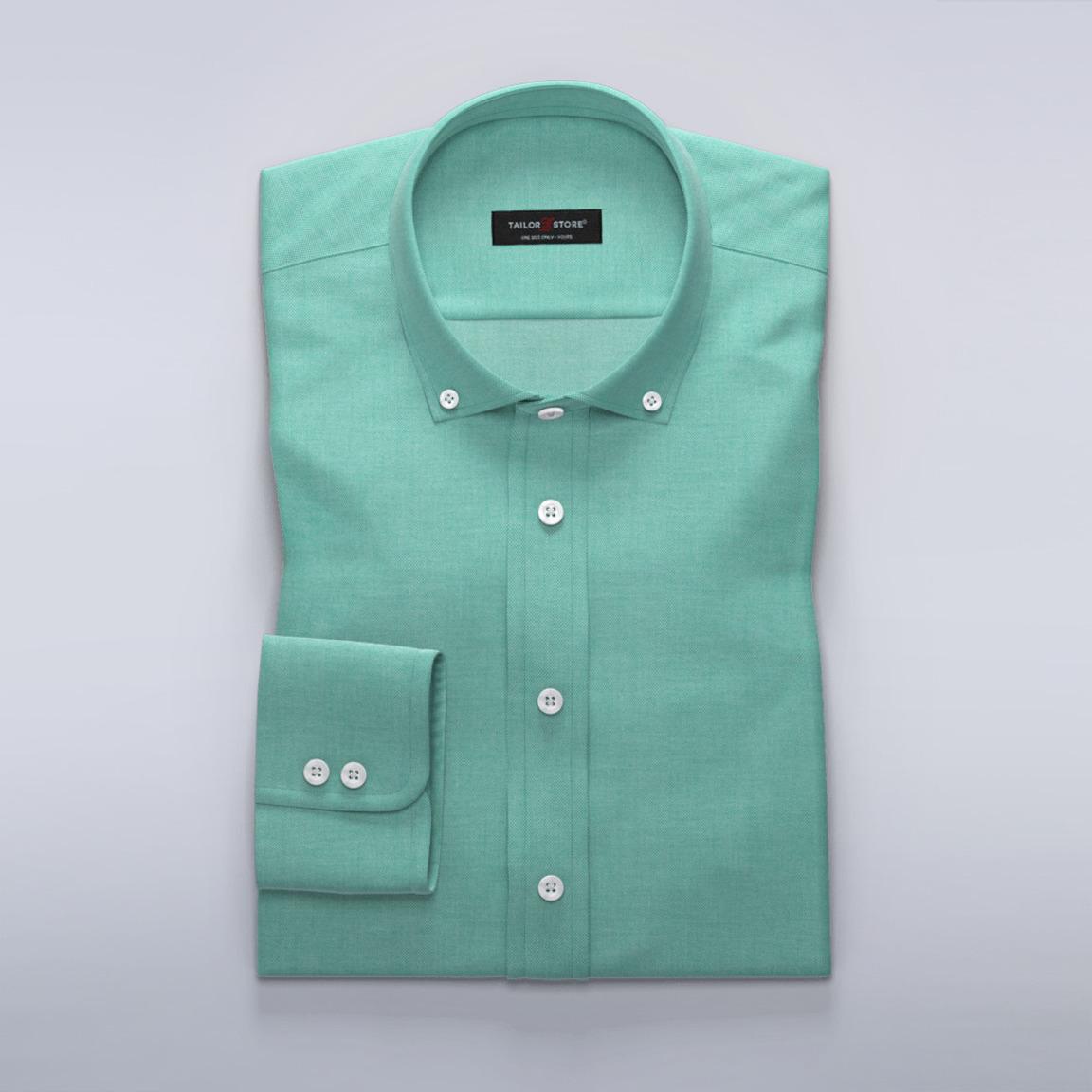 Business-Hemd für Damen aus leichtem grünen Ratière-Gewebe