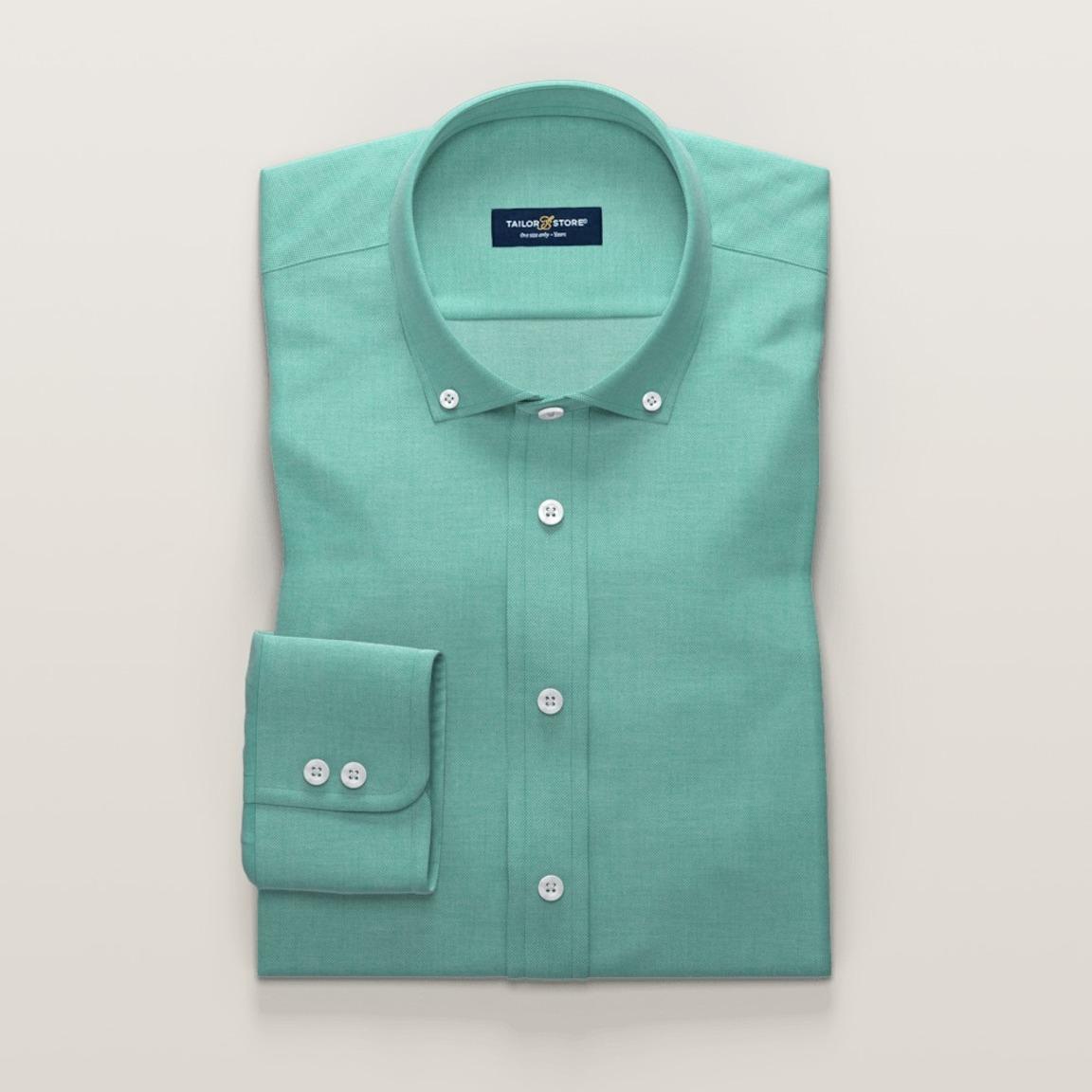 Dames business overhemd in groen licht dobbyweefsel
