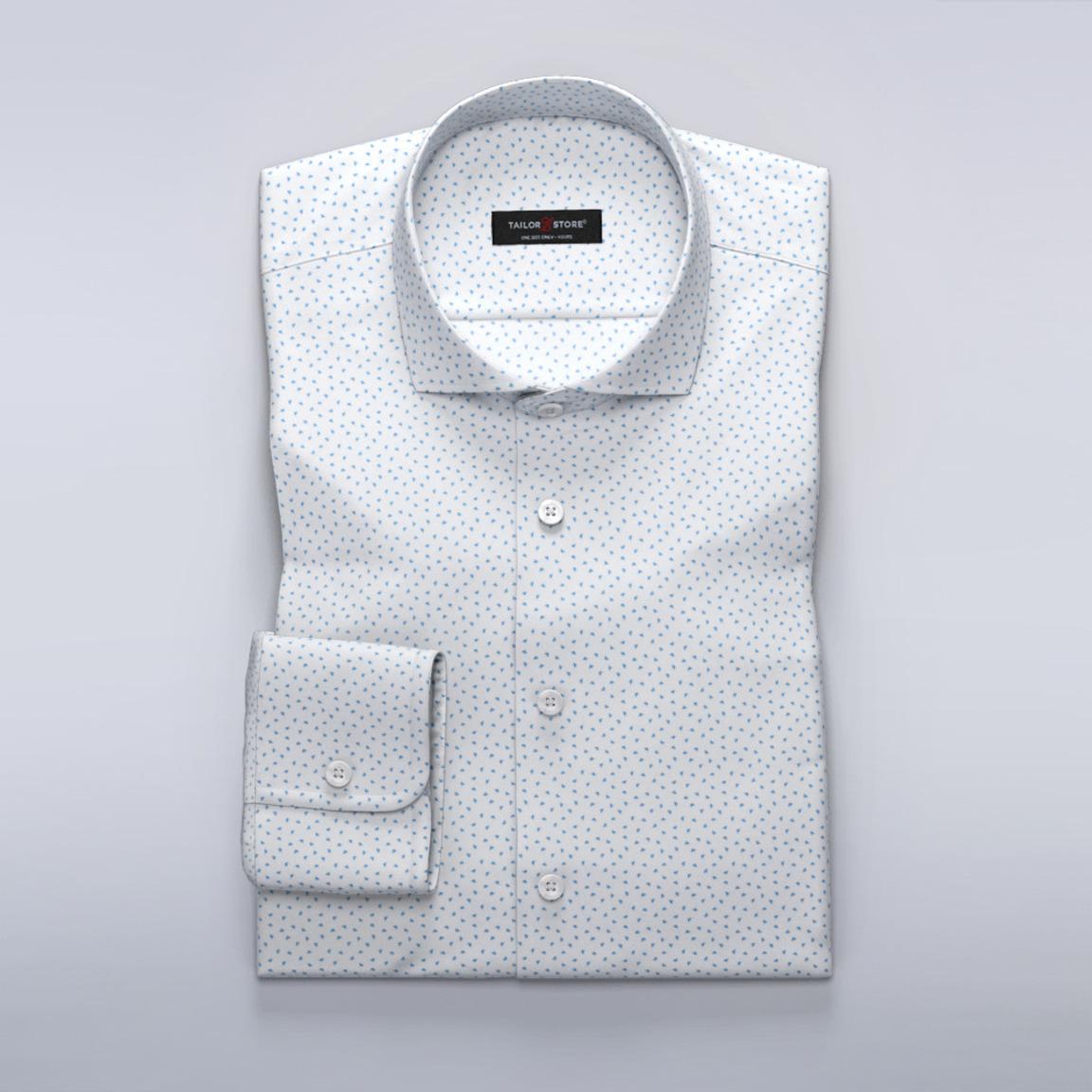 Satängskjorta med Aubrey ljusblått tryck